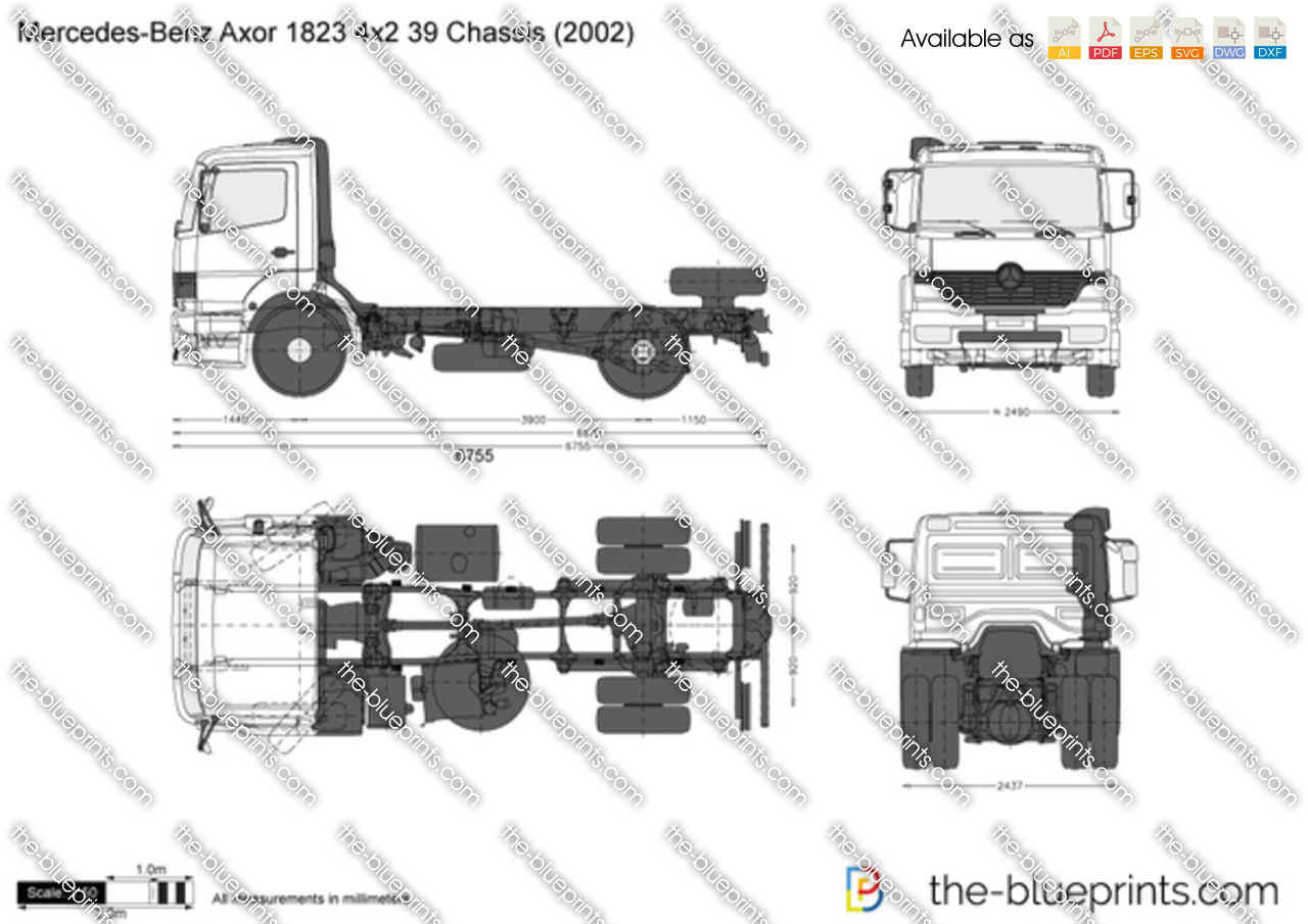 Mercedes-Benz Axor 1823 4x2 39 Chassis