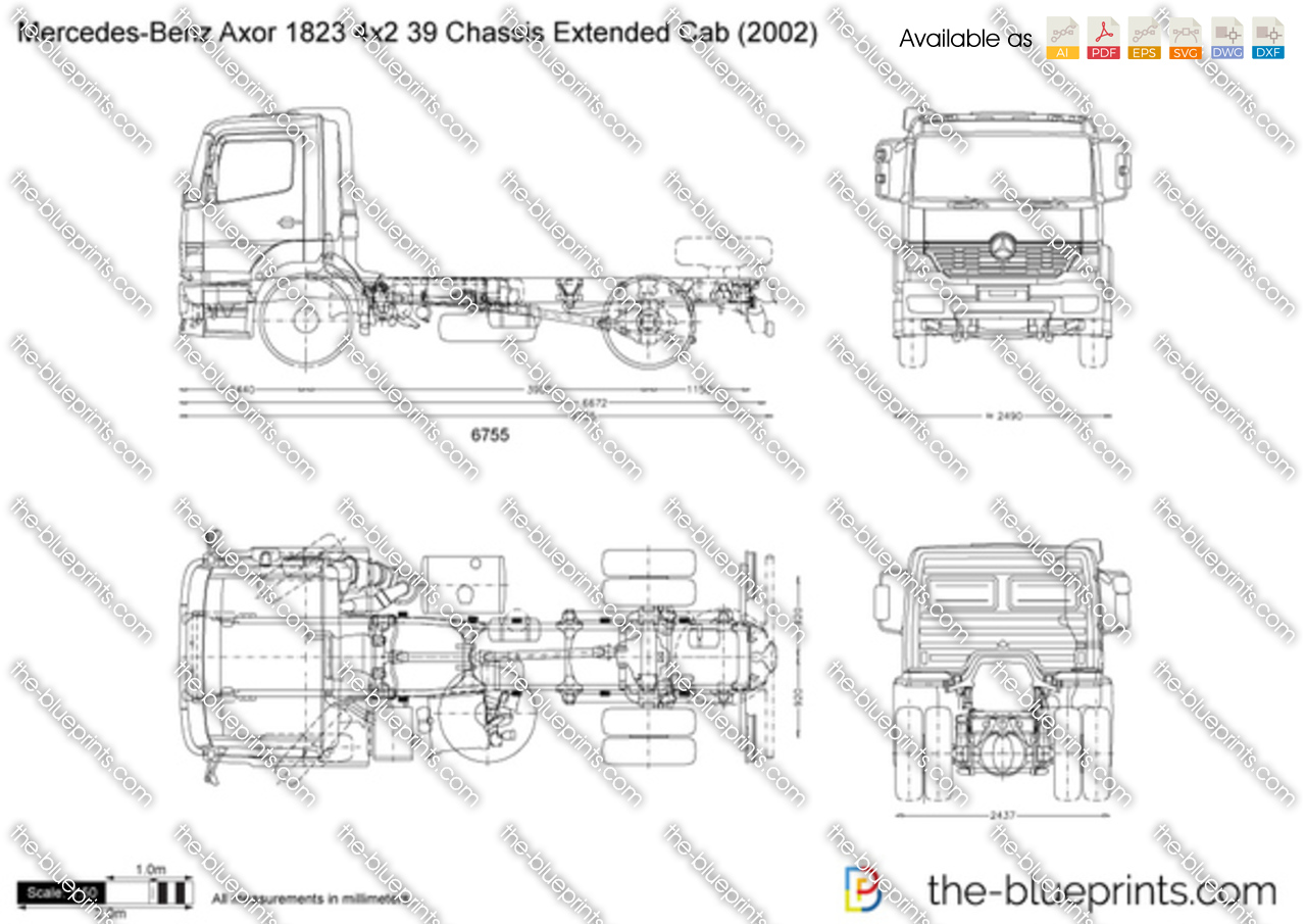 Mercedes Chassis Diagram Diy Enthusiasts Wiring Diagrams Axor Benz 1823 4x2 39 Extended Cab Vector Drawing Rh The Blueprints Com Intermodal Container Frame