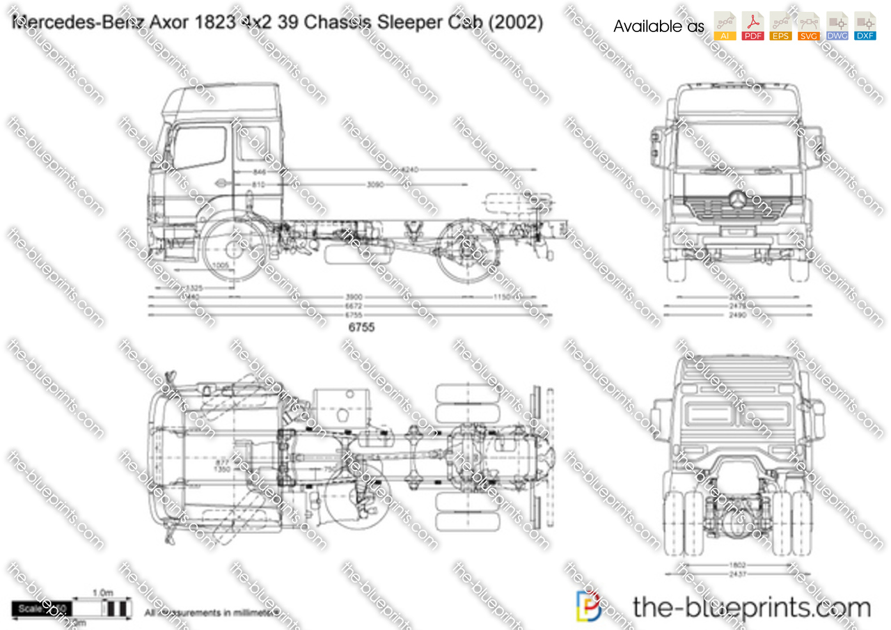 Mercedes-Benz Axor 1823 4x2 39 Chassis Sleeper Cab