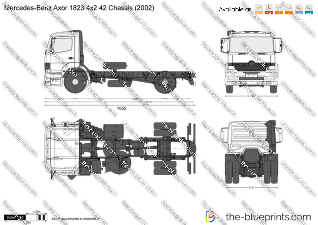 Mercedes-Benz Axor 1823 4x2 42 Chassis