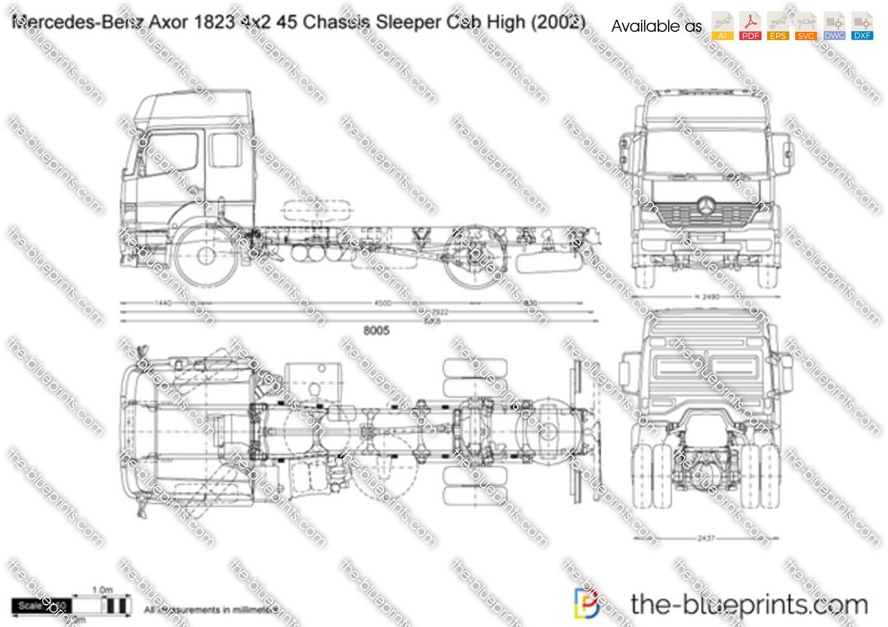 Mercedes-Benz Axor 1823 4x2 45 Chassis Sleeper Cab High