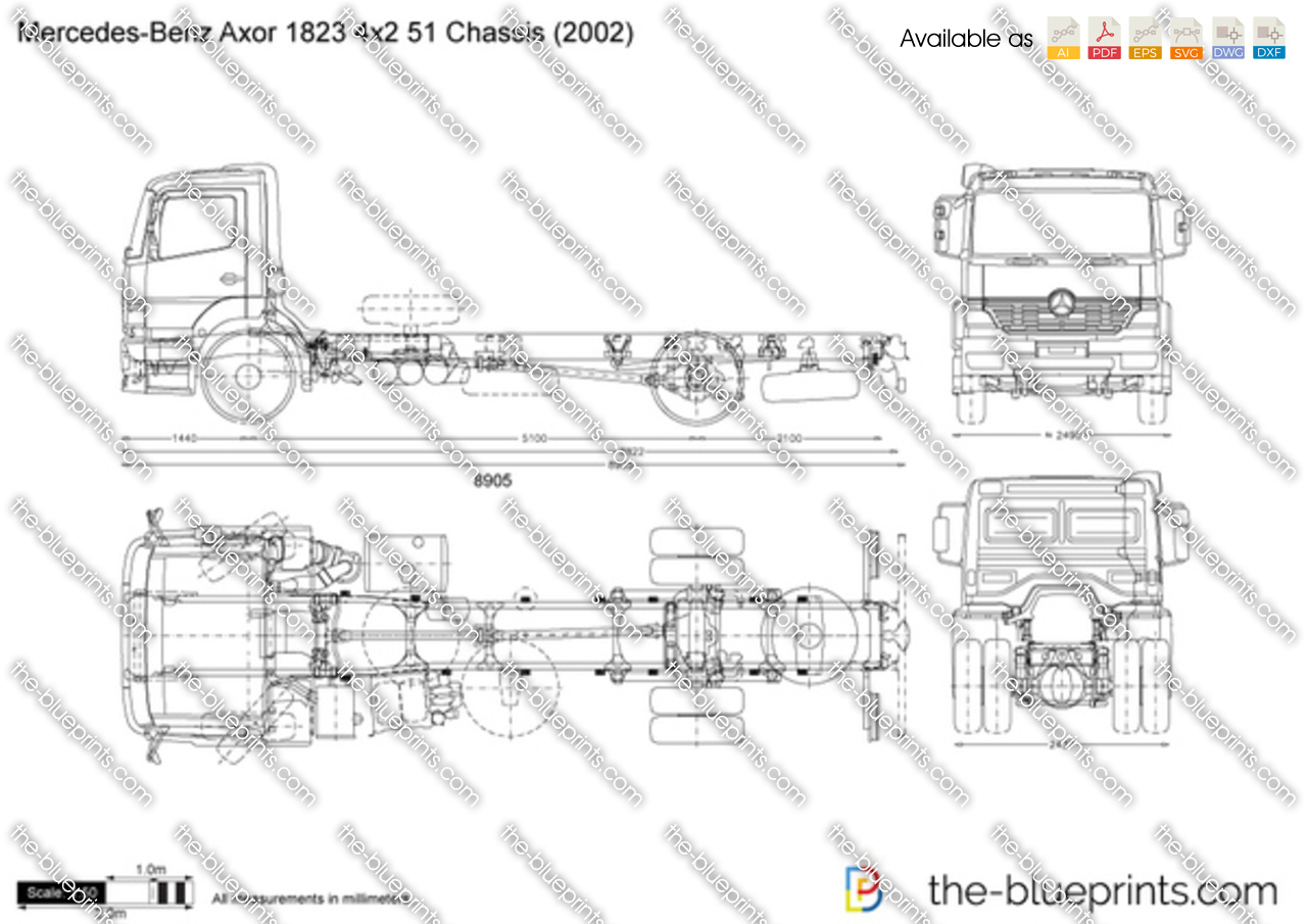 Mercedes-Benz Axor 1823 4x2 51 Chassis