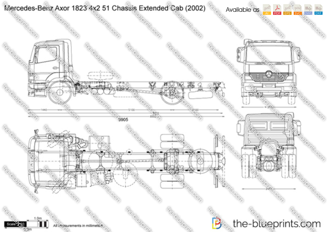 Mercedes-Benz Axor 1823 4x2 51 Chassis Extended Cab
