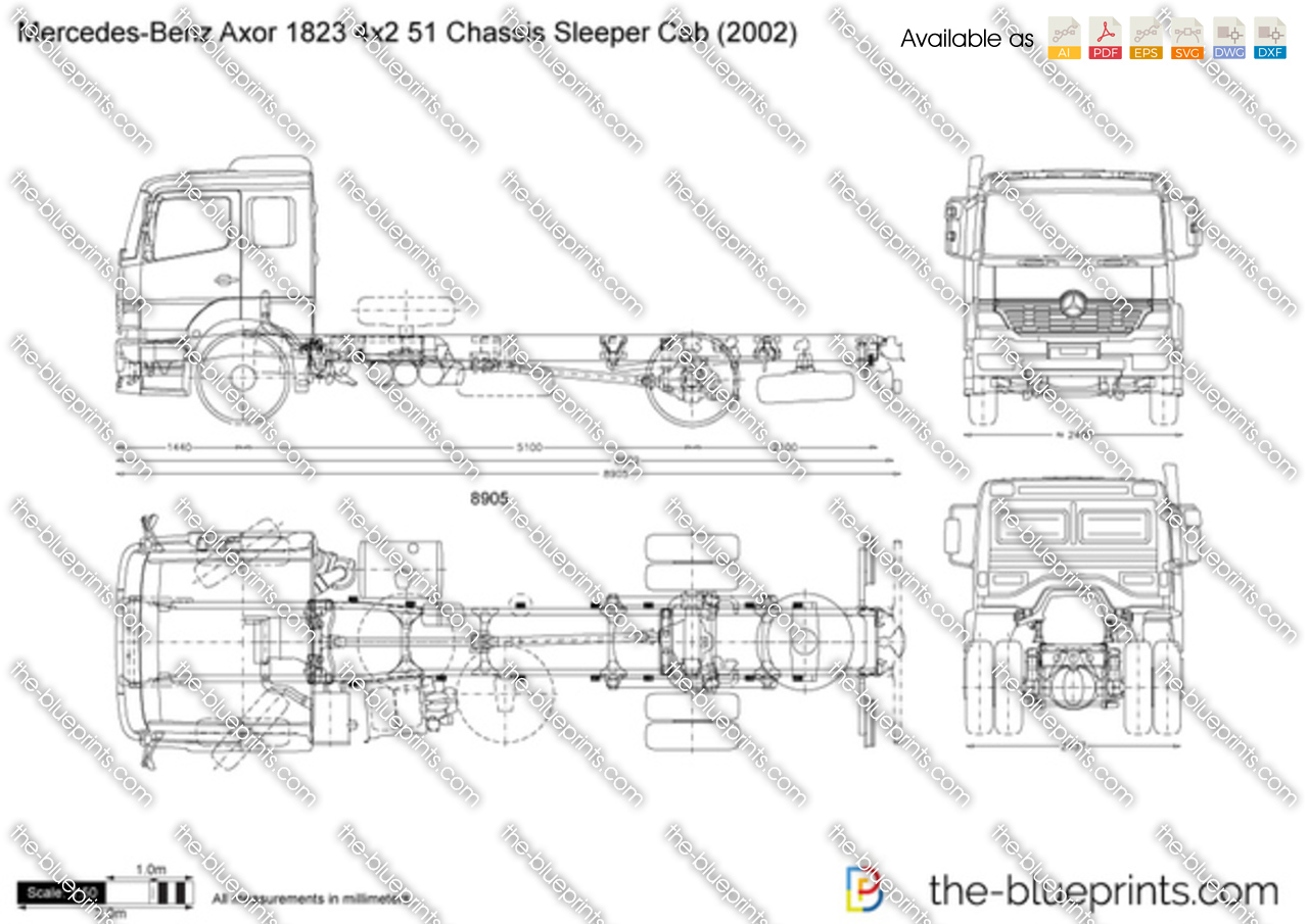 Mercedes-Benz Axor 1823 4x2 51 Chassis Sleeper Cab