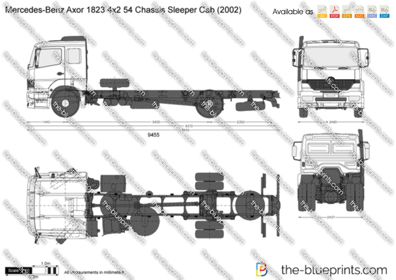 Mercedes-Benz Axor 1823 4x2 54 Chassis Sleeper Cab