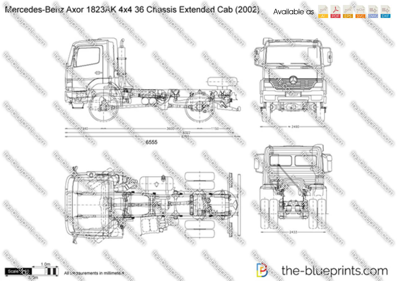 Mercedes-Benz Axor 1823AK 4x4 36 Chassis Extended Cab