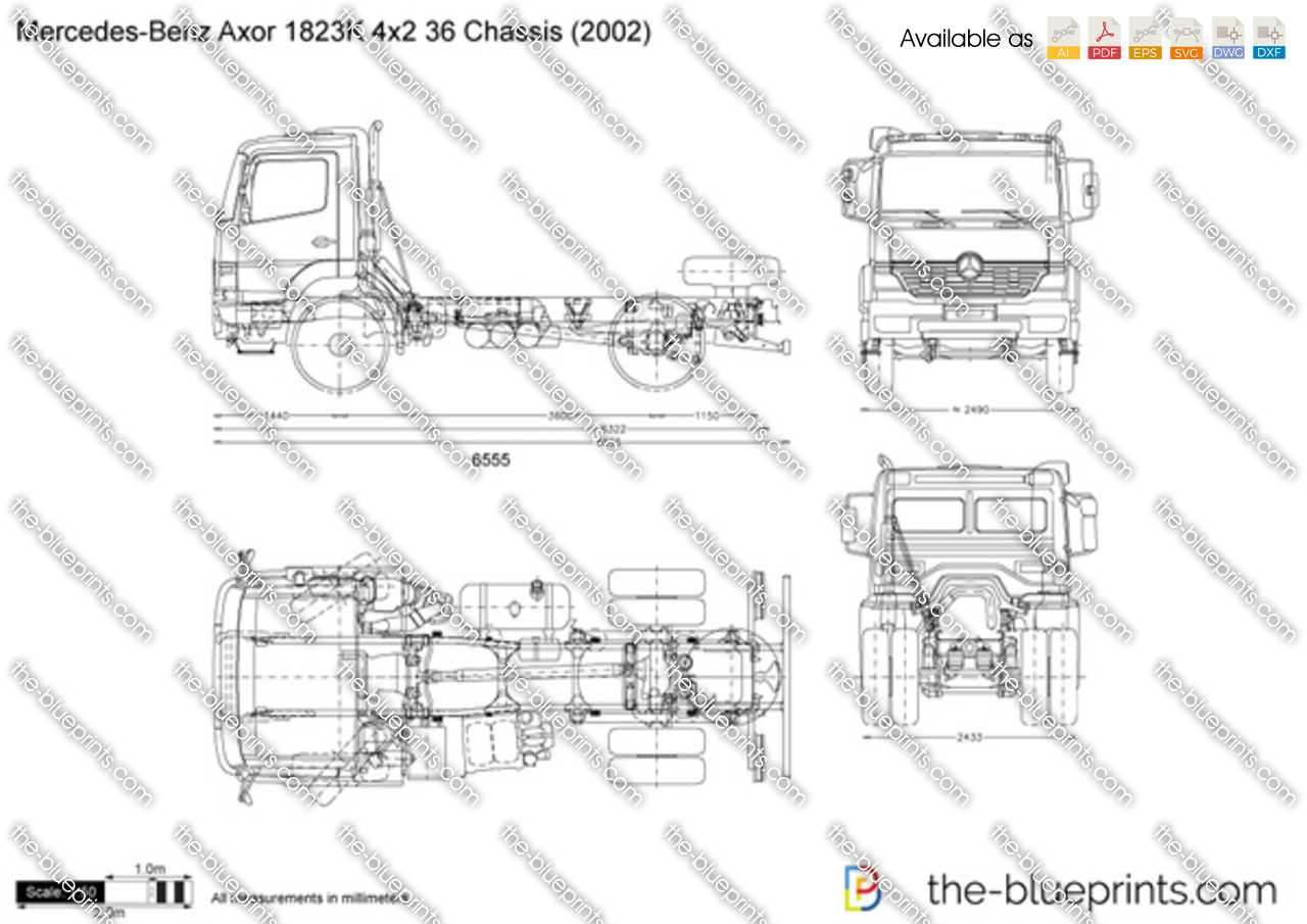 Mercedes-Benz Axor 1823K 4x2 36 Chassis