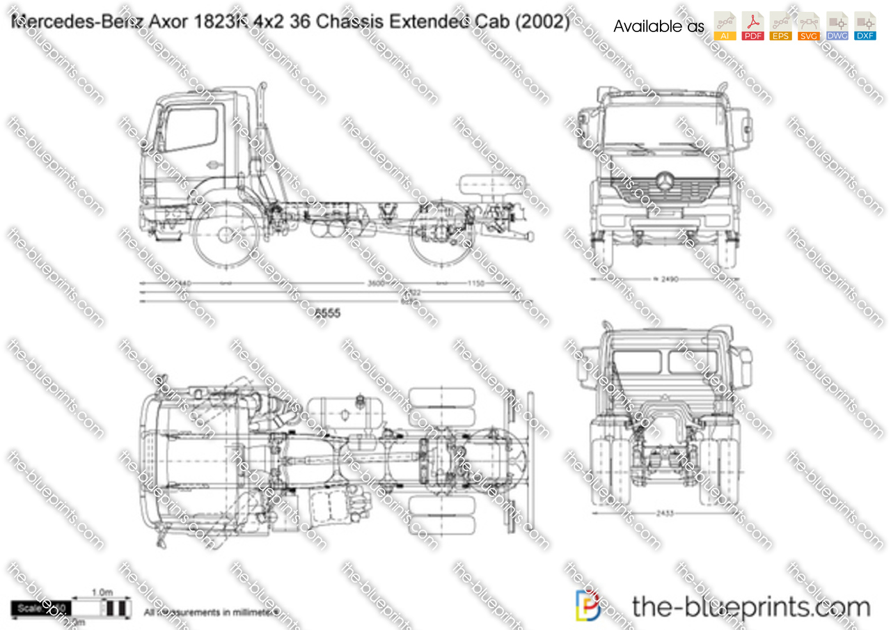 Mercedes-Benz Axor 1823K 4x2 36 Chassis Extended Cab