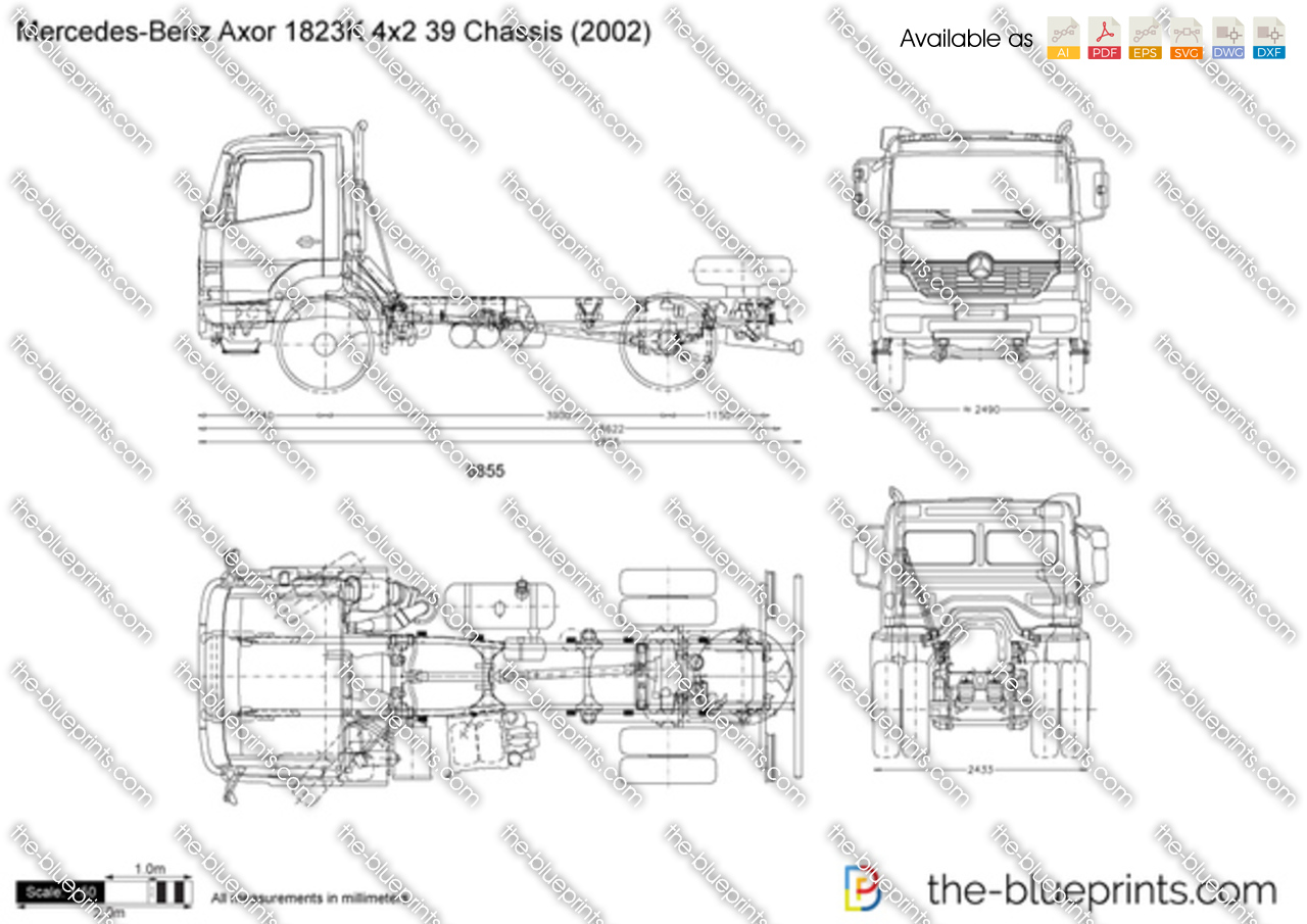 Mercedes-Benz Axor 1823K 4x2 39 Chassis