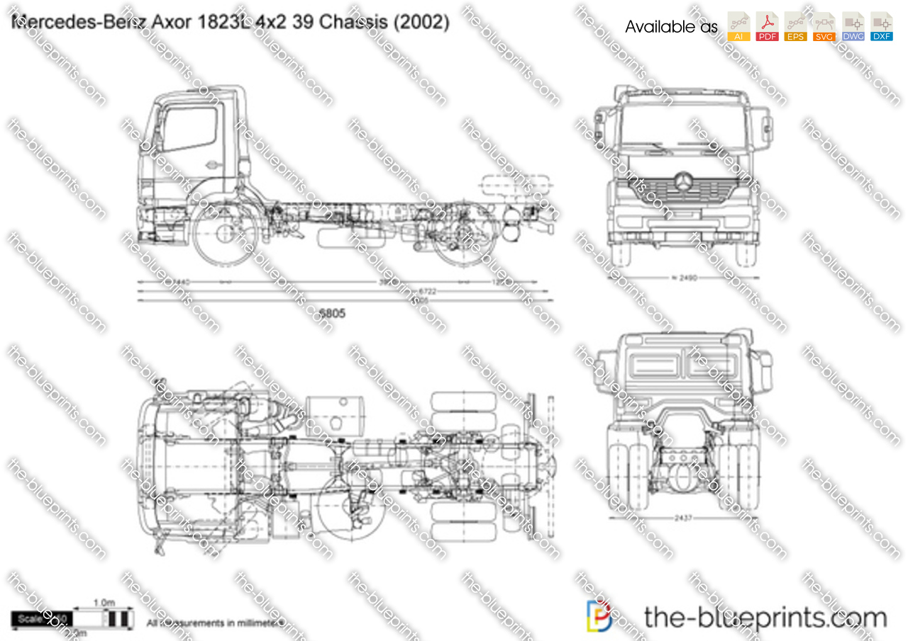 Mercedes-Benz Axor 1823L 4x2 39 Chassis