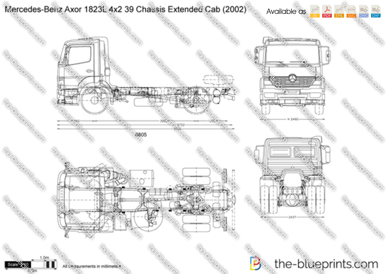 Mercedes-Benz Axor 1823L 4x2 39 Chassis Extended Cab
