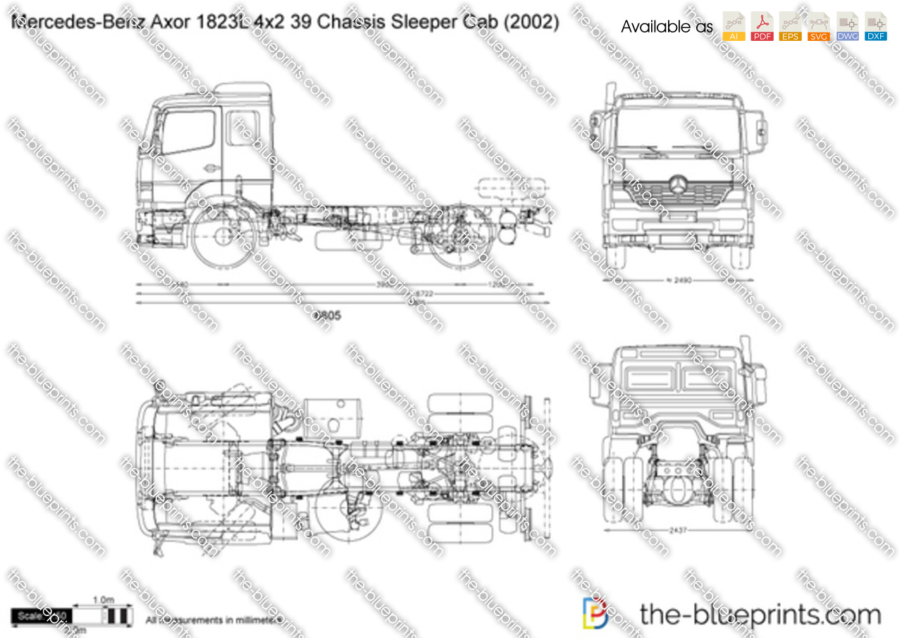 Mercedes-Benz Axor 1823L 4x2 39 Chassis Sleeper Cab