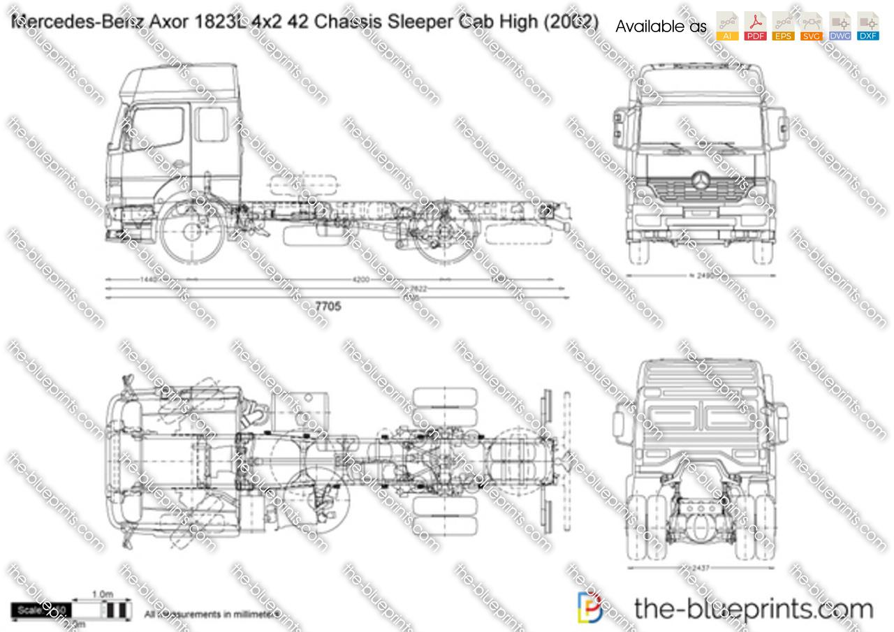 Mercedes-Benz Axor 1823L 4x2 42 Chassis Sleeper Cab High