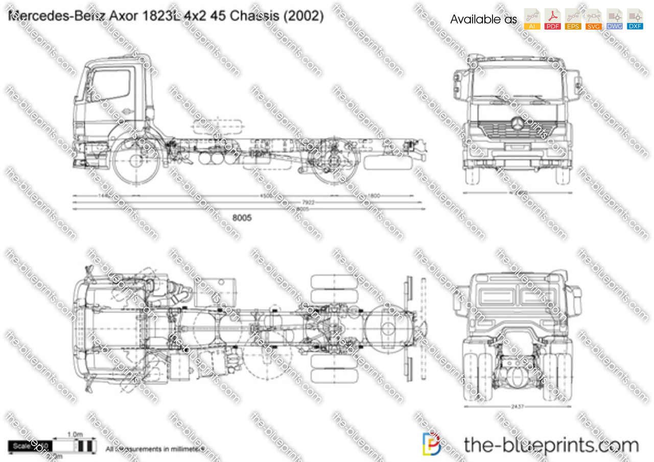 Mercedes-Benz Axor 1823L 4x2 45 Chassis