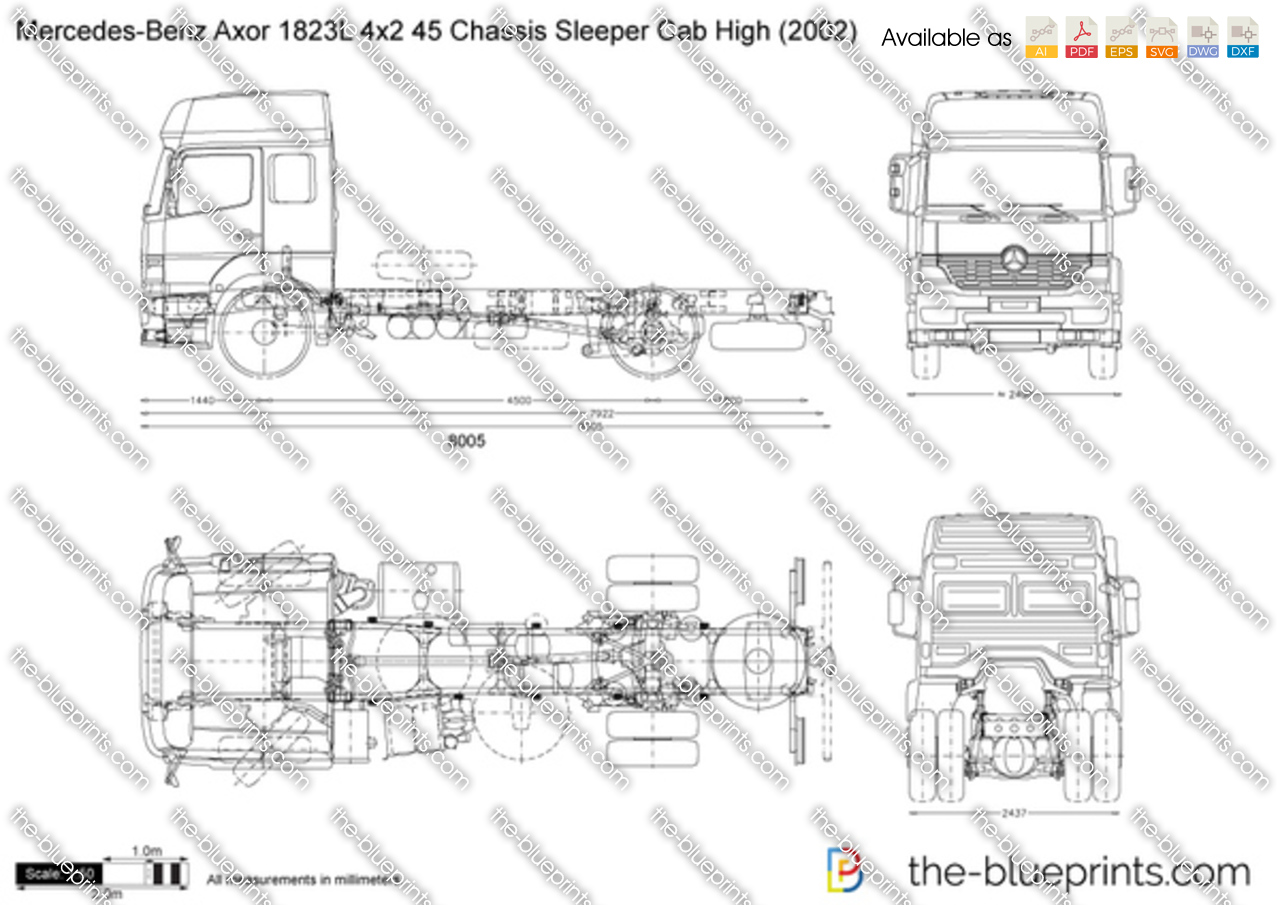 Mercedes-Benz Axor 1823L 4x2 45 Chassis Sleeper Cab High