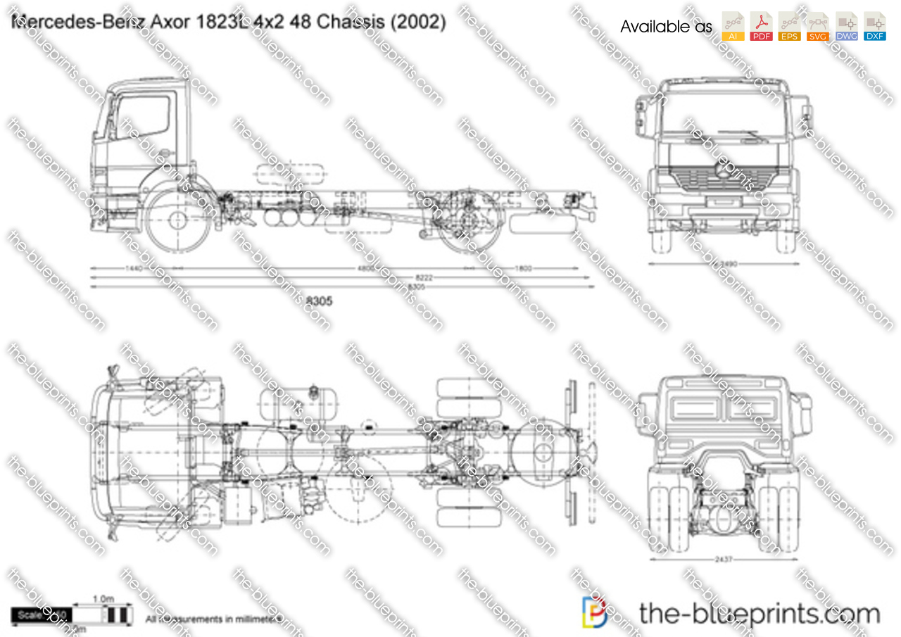 Mercedes-Benz Axor 1823L 4x2 48 Chassis
