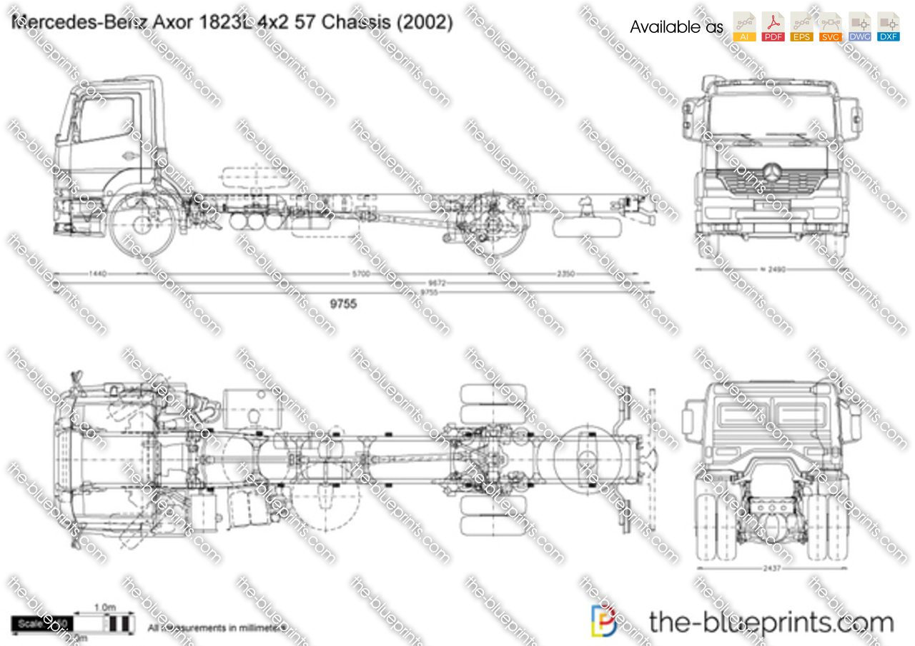 Mercedes-Benz Axor 1823L 4x2 57 Chassis