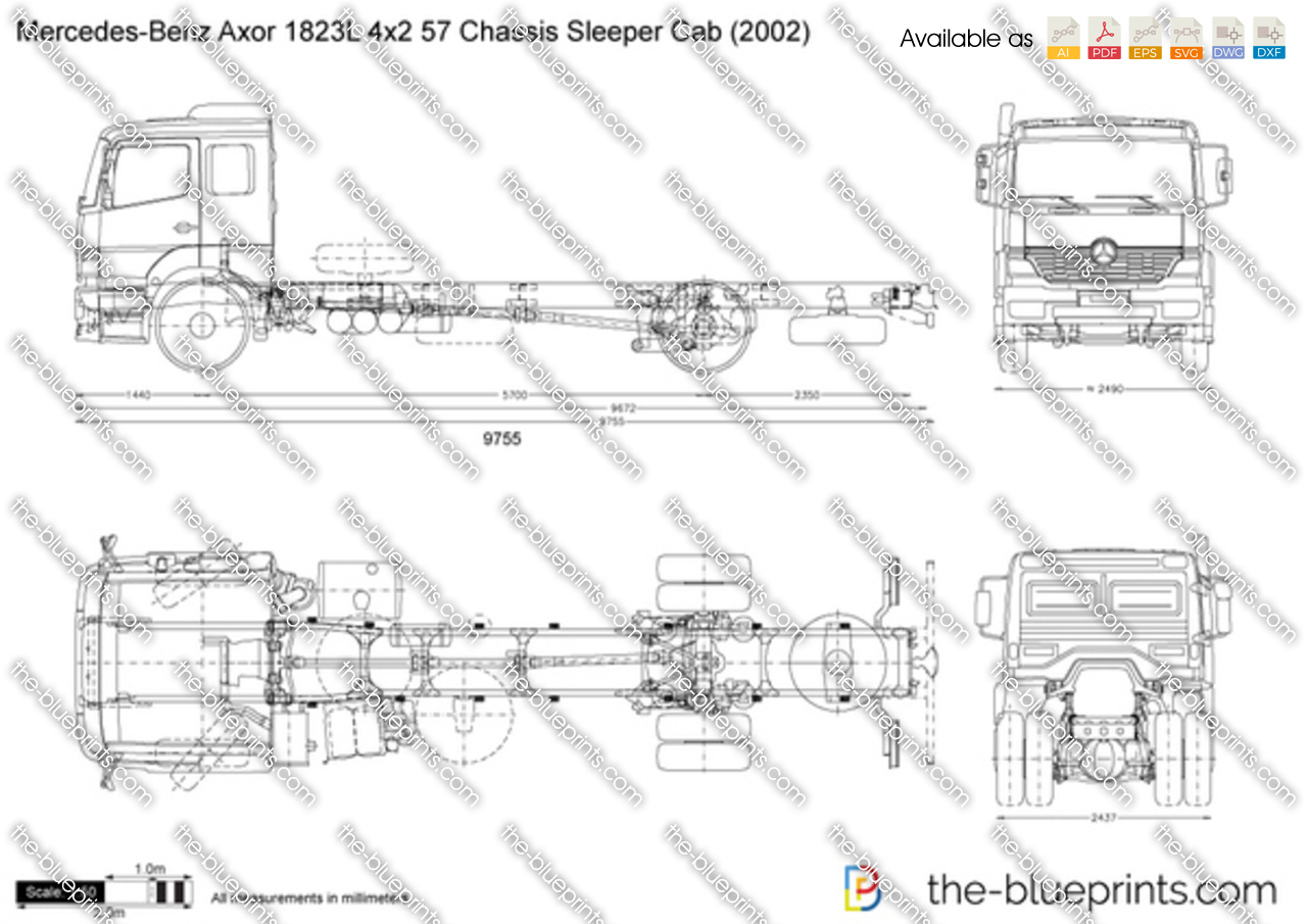 Mercedes-Benz Axor 1823L 4x2 57 Chassis Sleeper Cab