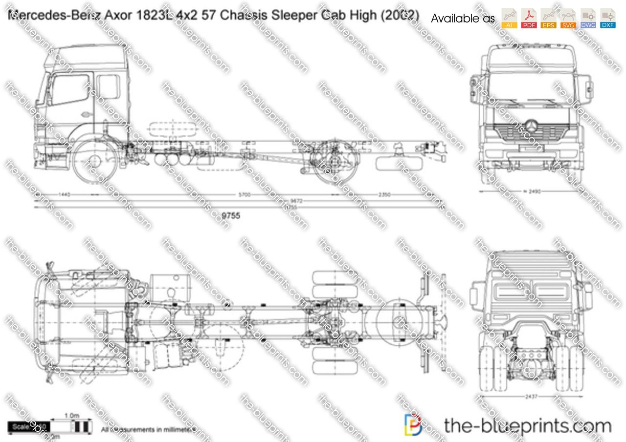 Mercedes-Benz Axor 1823L 4x2 57 Chassis Sleeper Cab High