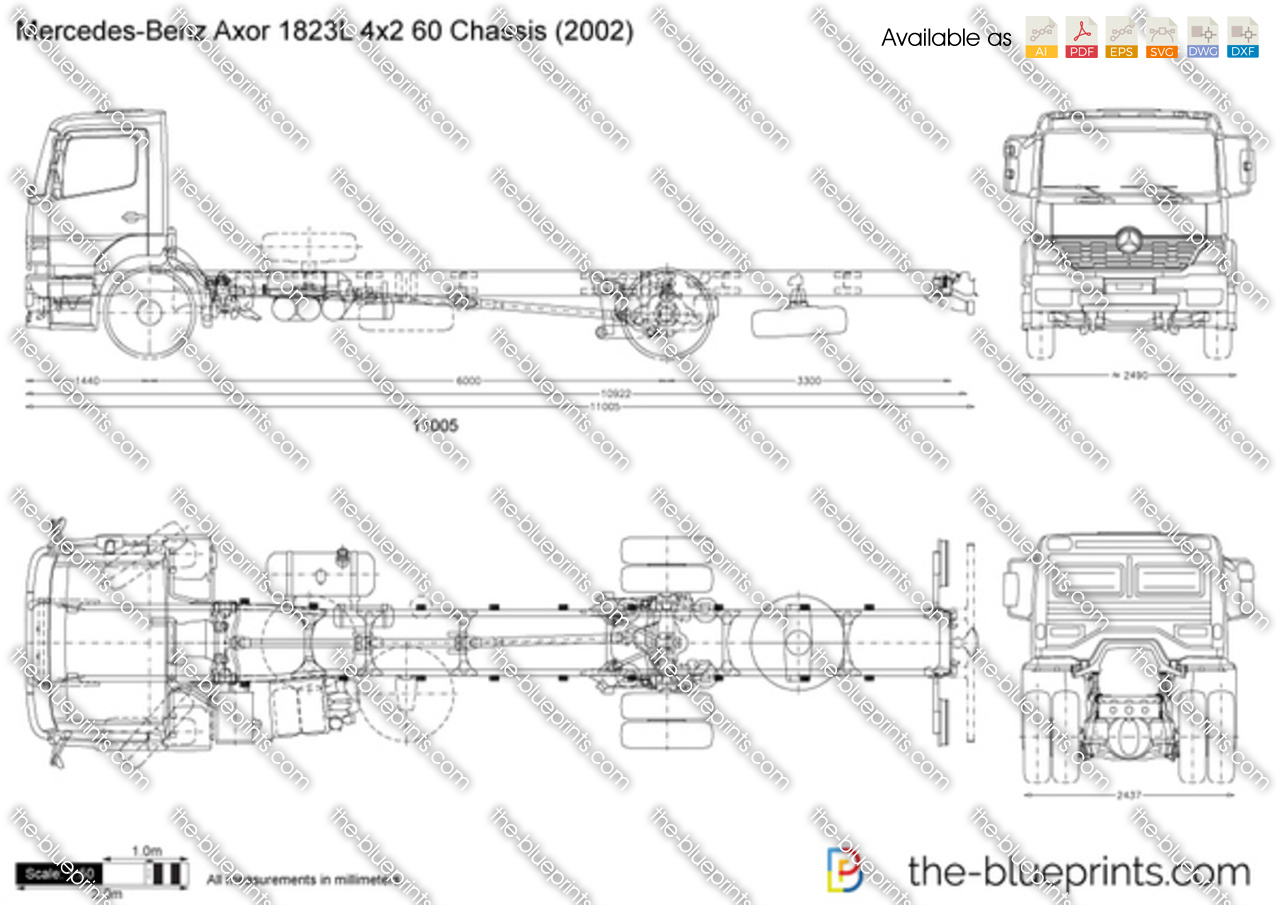 Mercedes-Benz Axor 1823L 4x2 60 Chassis