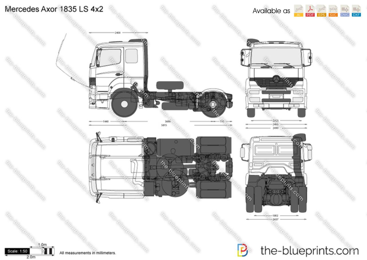 mercedes actros 1836 4x2 car1280 sketch coloring page