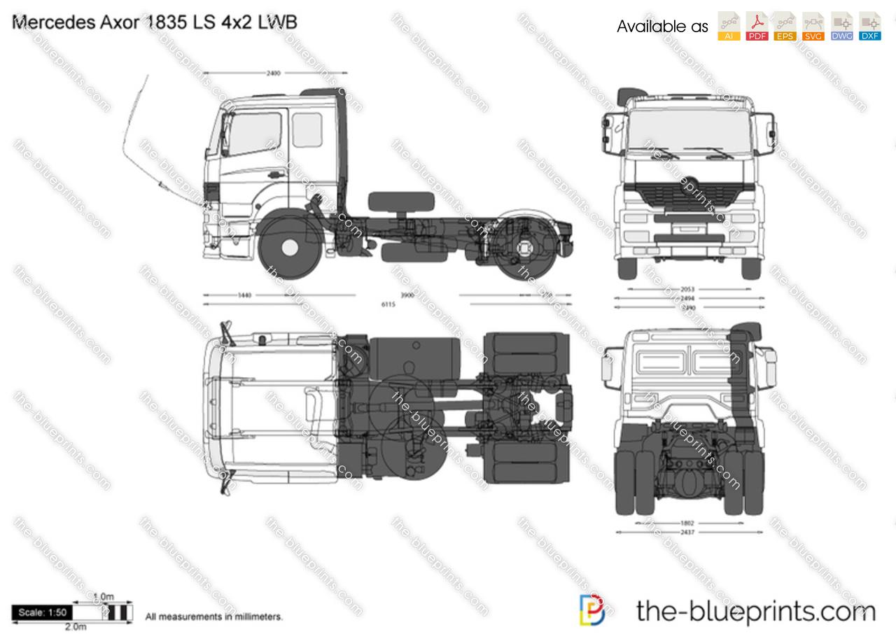 Mercedes-Benz Axor 1835 LS 4x2 LWB