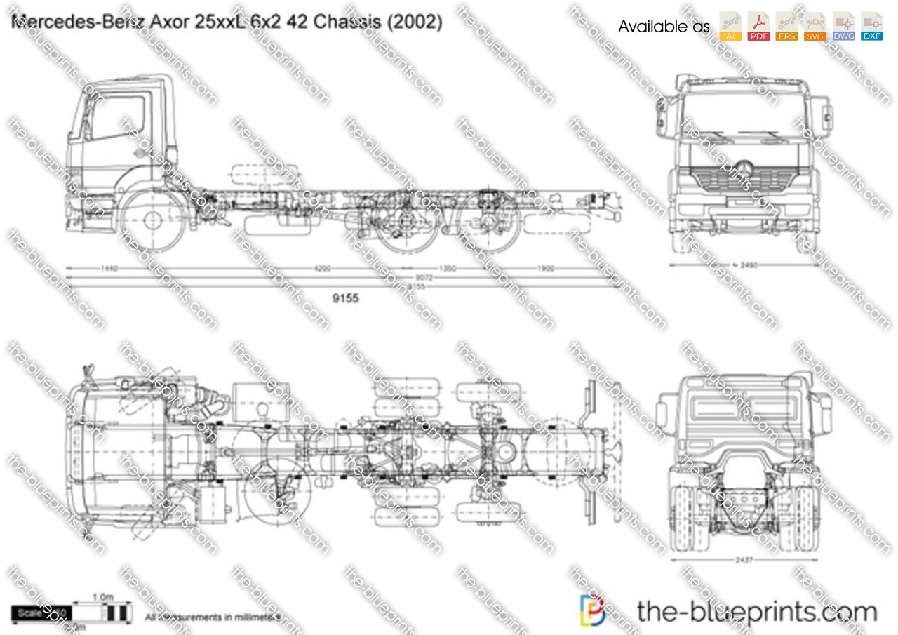 Mercedes-Benz Axor 25xxL 6x2 42 Chassis