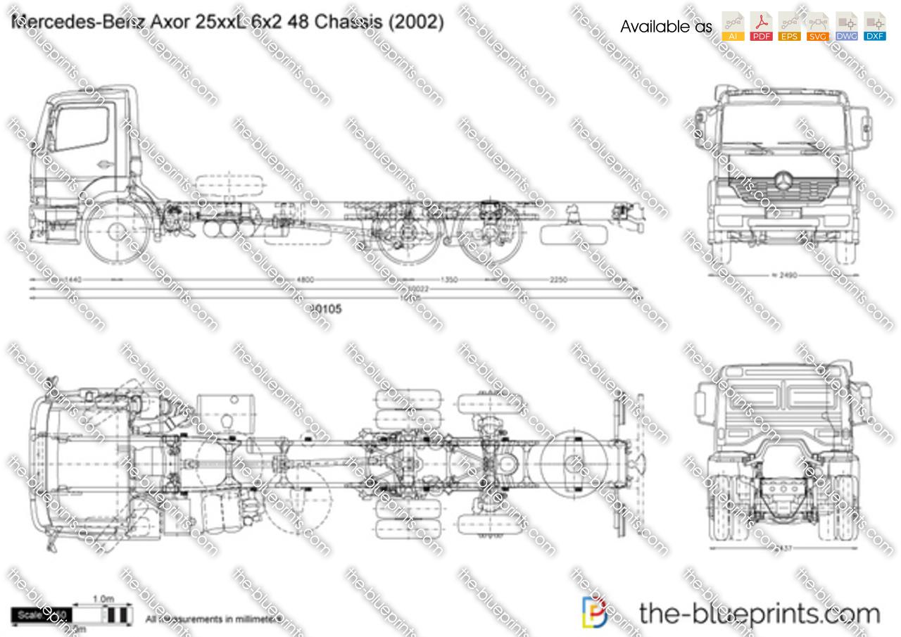Mercedes-Benz Axor 25xxL 6x2 48 Chassis
