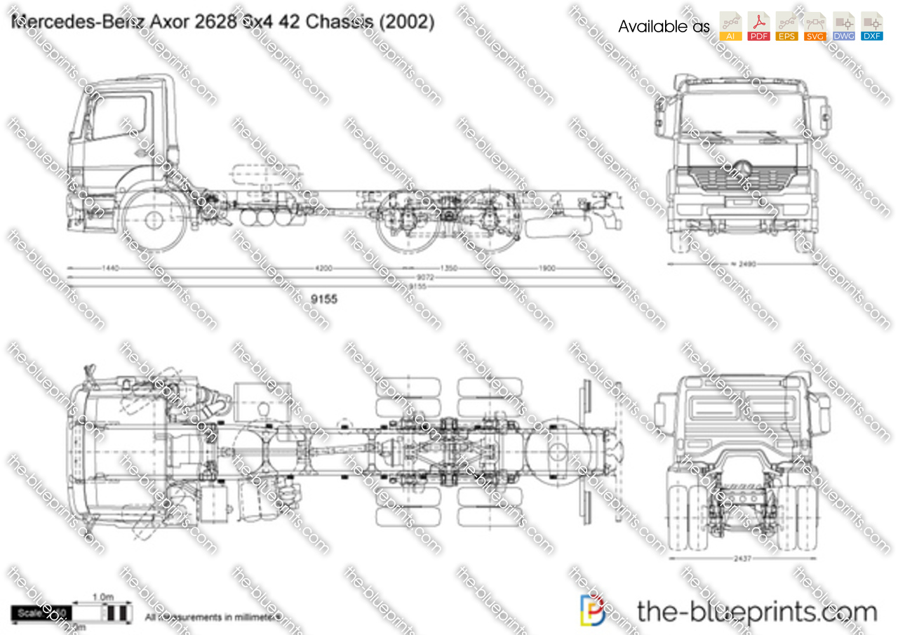 Mercedes-Benz Axor 2628 6x4 42 Chassis