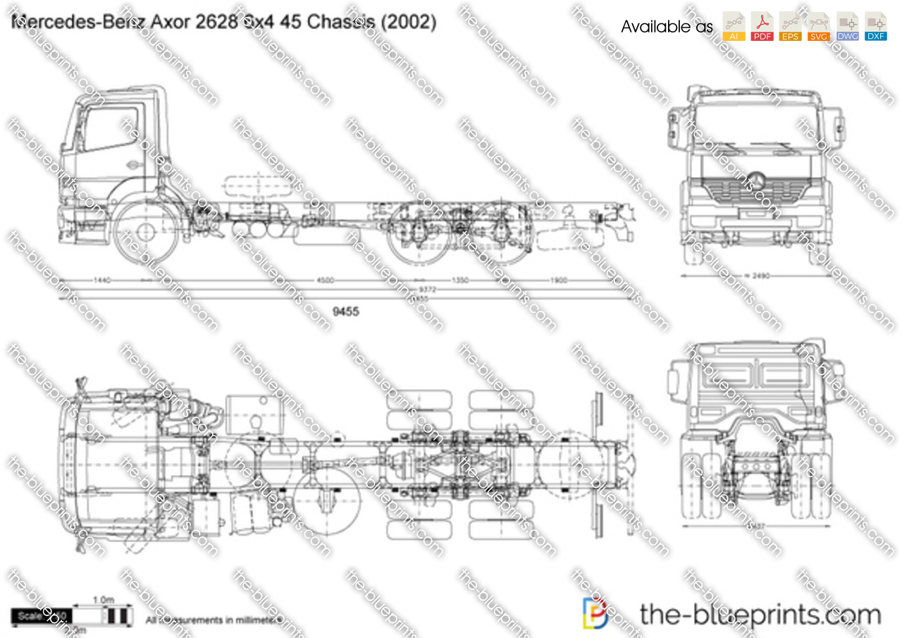 Mercedes-Benz Axor 2628 6x4 45 Chassis