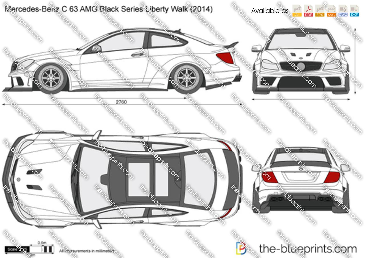 Mercedes-Benz C 63 AMG Black Series Liberty Walk