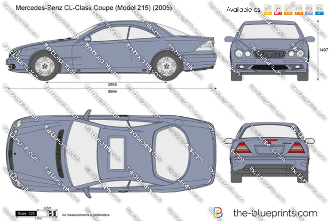 2001 Mercedes-Benz CL-Class Coupe W215
