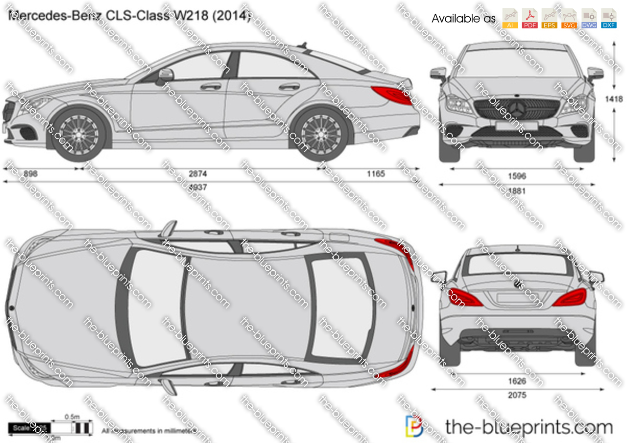 The-Blueprints.com - Vector Drawing - Mercedes-Benz CLS ...