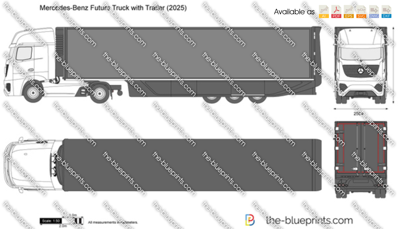 Mercedes-Benz Future Truck with Trailer