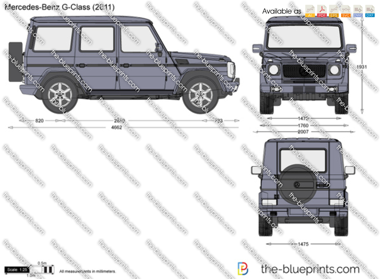 The vector drawing mercedes benz g class for Mercedes benz g class 2012 price