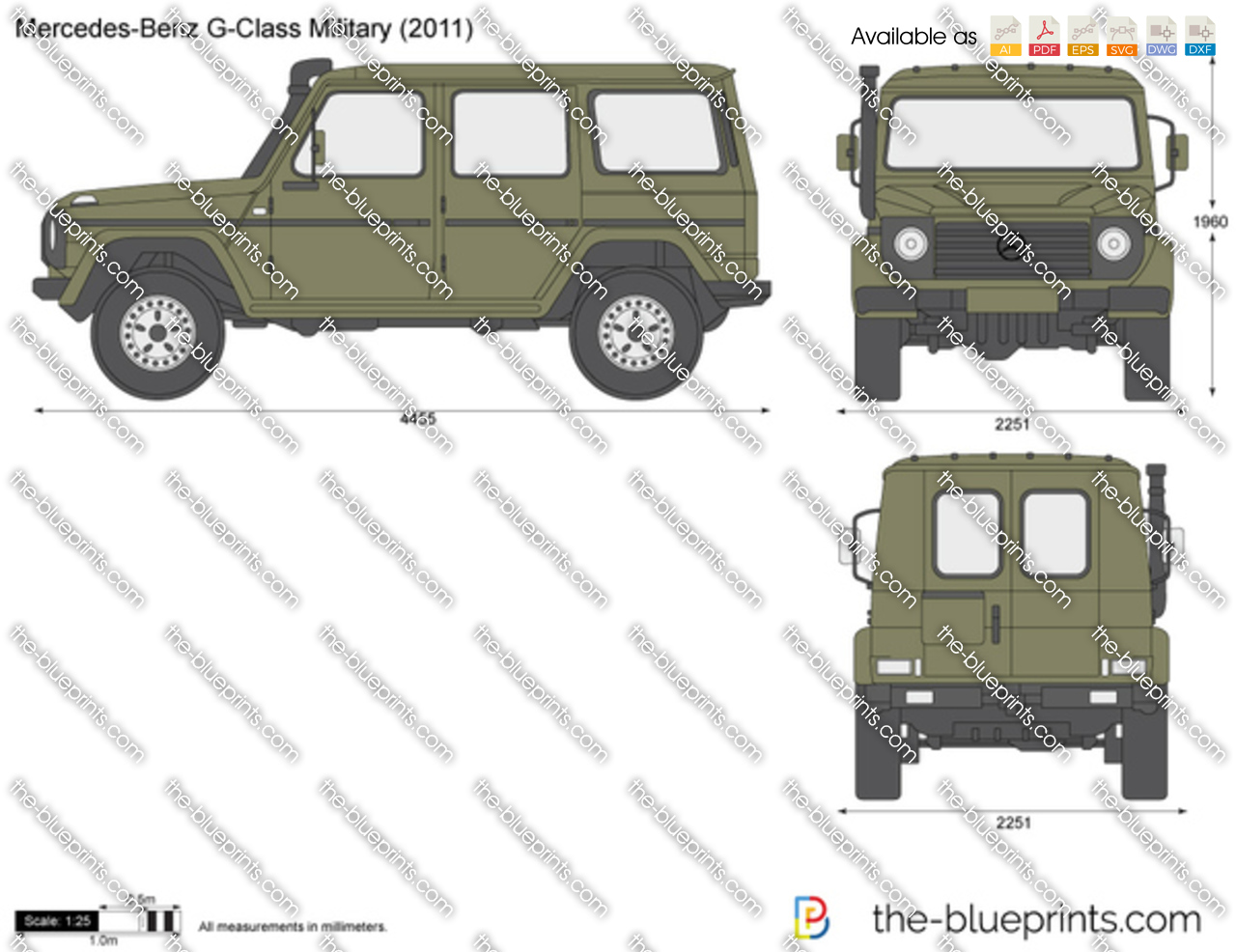 Mercedes-Benz G-Class Military 461 2010