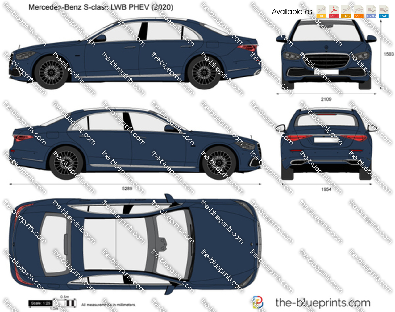 Mercedes-Benz S-class LWB PHEV W223