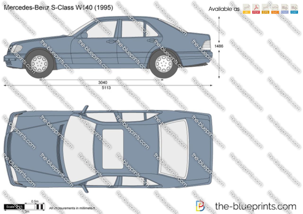 mercedes benz  class  vector drawing