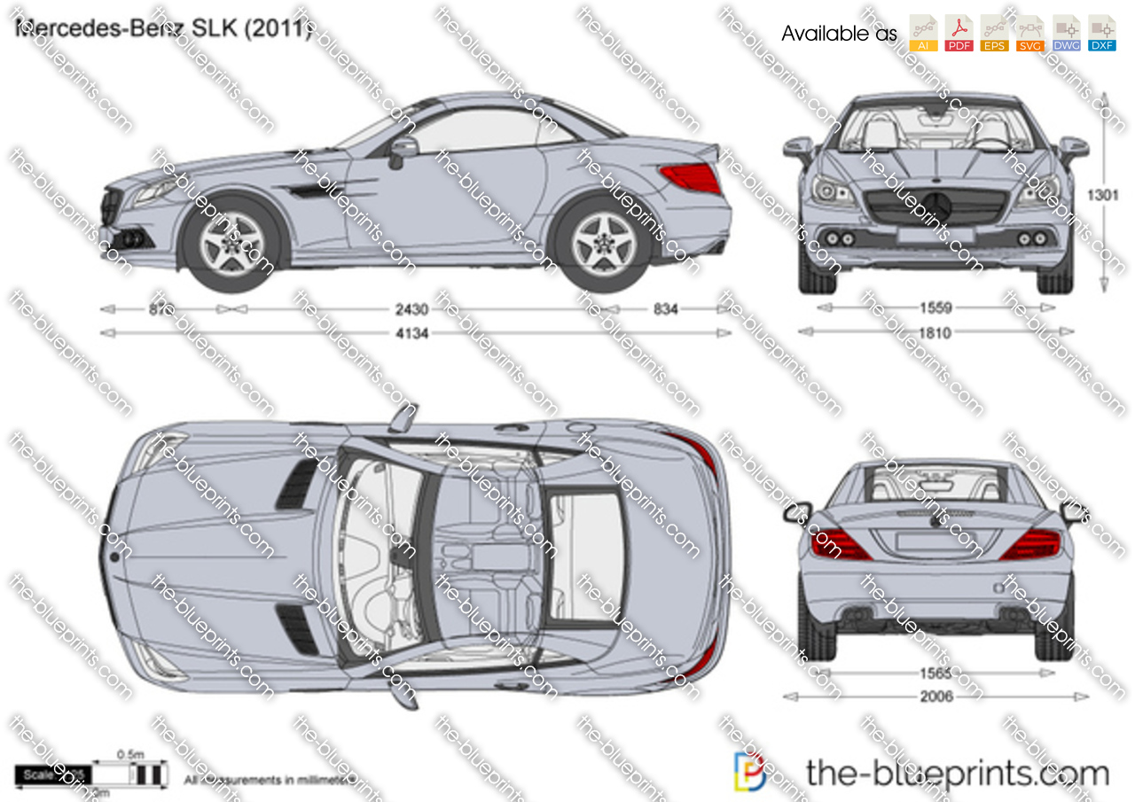 The Blueprints Com Vector Drawing Mercedes Benz Slk R172