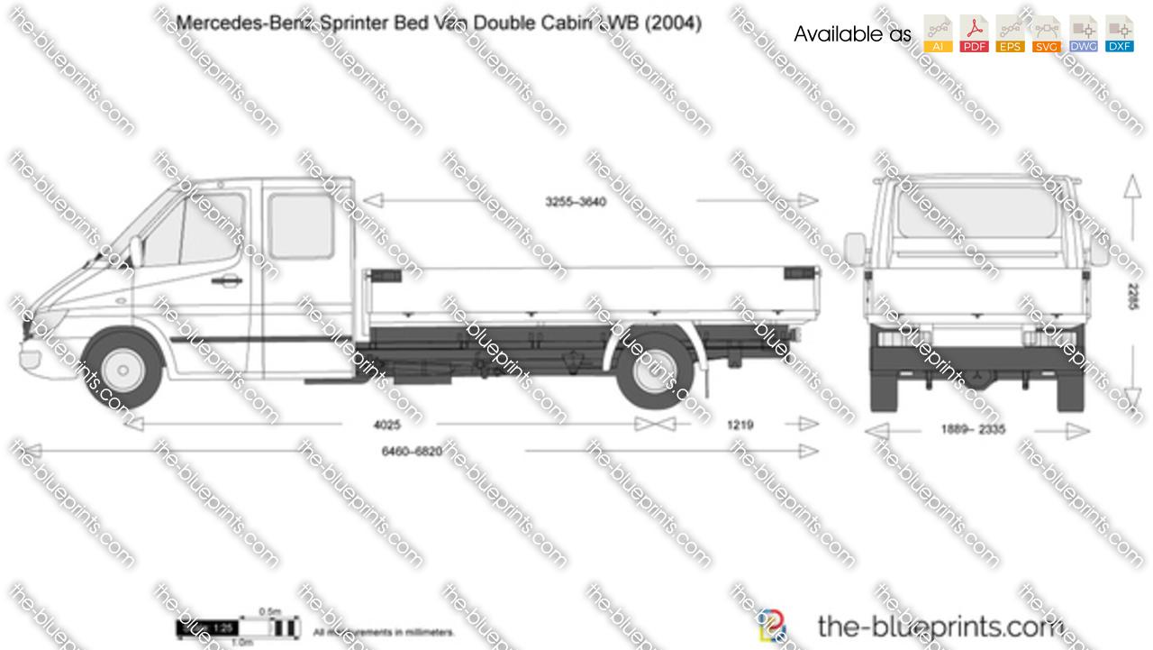 Mercedes-Benz Sprinter Bed Van Double Cabin LWB