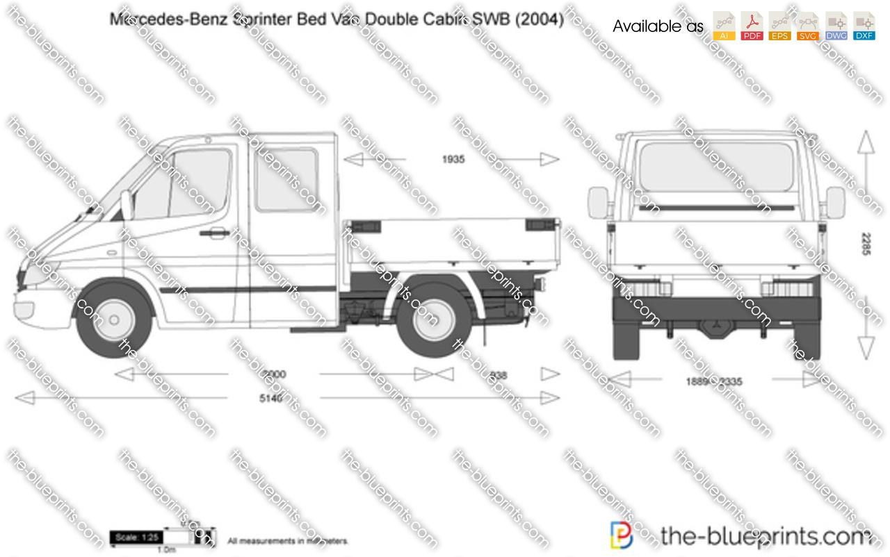Mercedes-Benz Sprinter Bed Van Double Cabin SWB