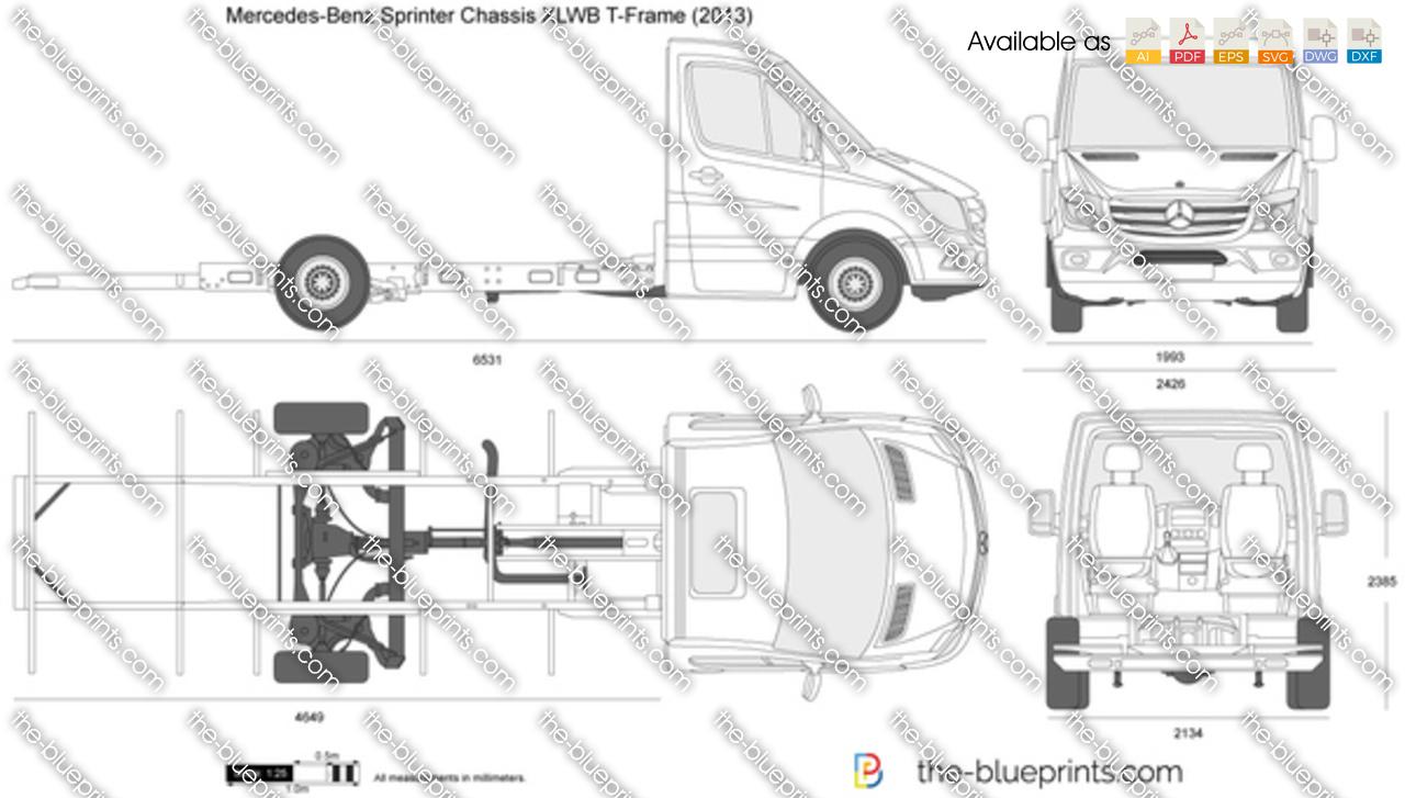Mercedes-Benz Sprinter Chassis XLWB T-Frame