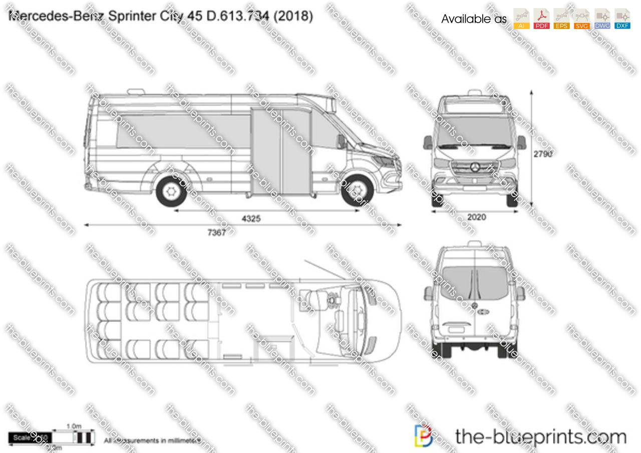 Mercedes-Benz Sprinter City 45 D.613.734