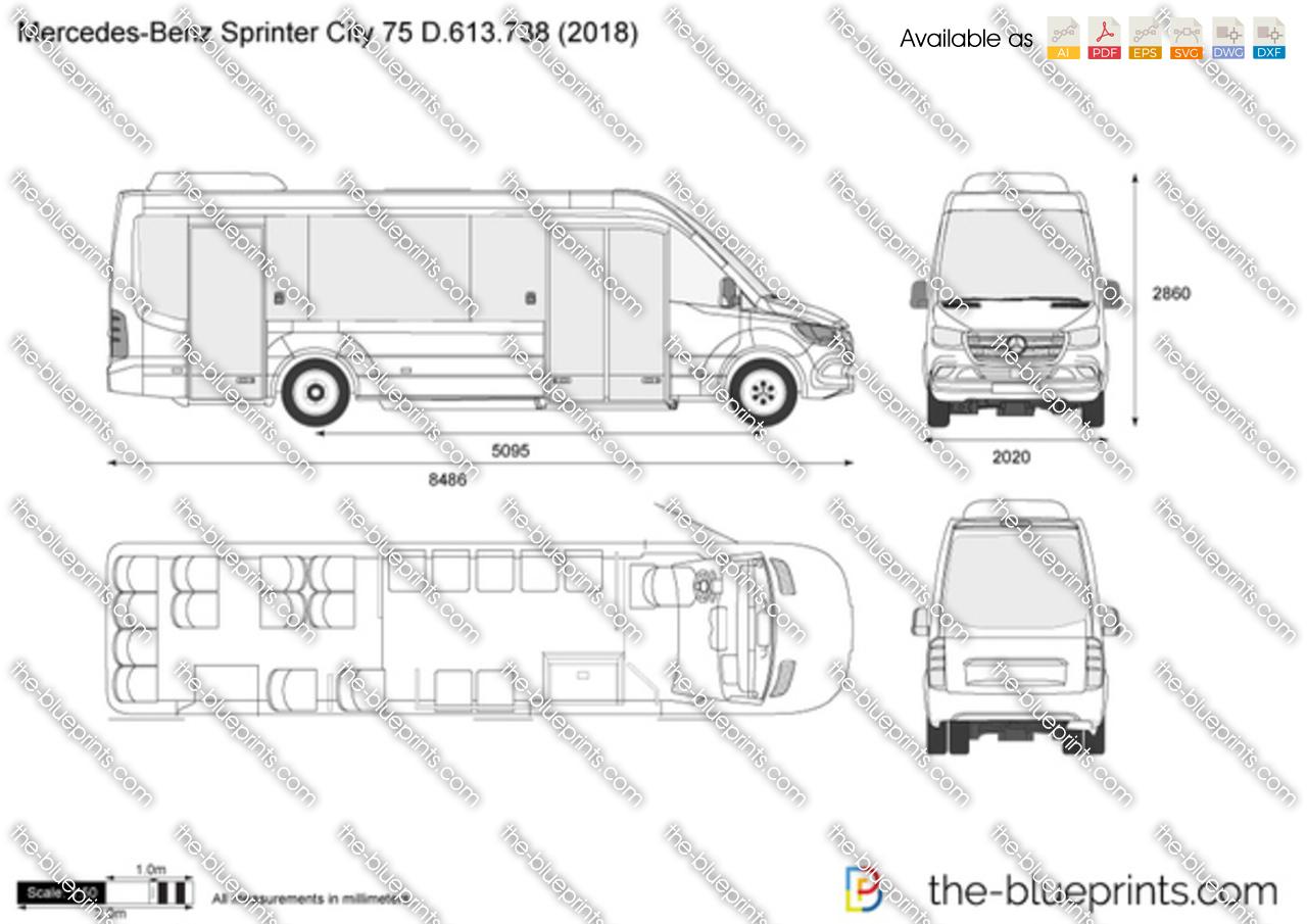 Mercedes-Benz Sprinter City 75 D.613.738