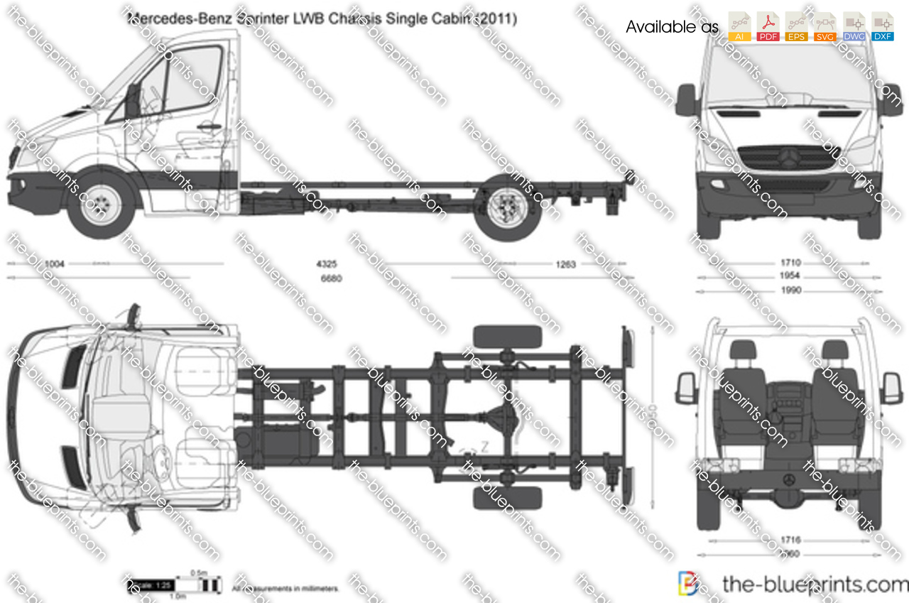 Mercedes-Benz Sprinter LWB Chassis Single Cabin