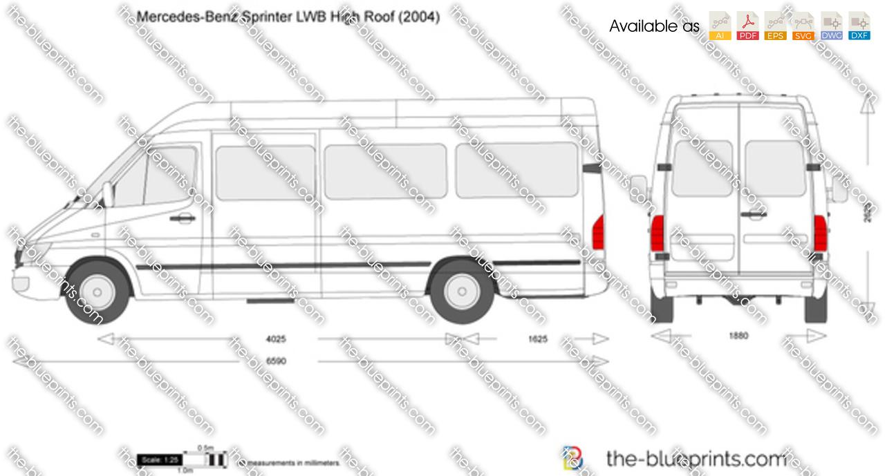 Mercedes Sprinter Prices >> Mercedes-Benz Sprinter LWB High Roof vector drawing