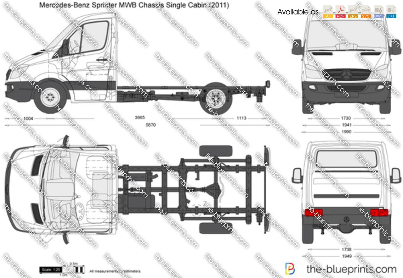 Mercedes-Benz Sprinter MWB Chassis Single Cabin