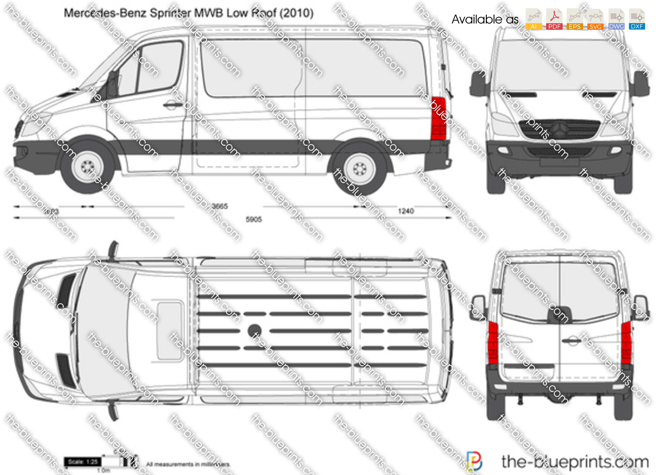 Mercedes-Benz Sprinter MWB Low Roof