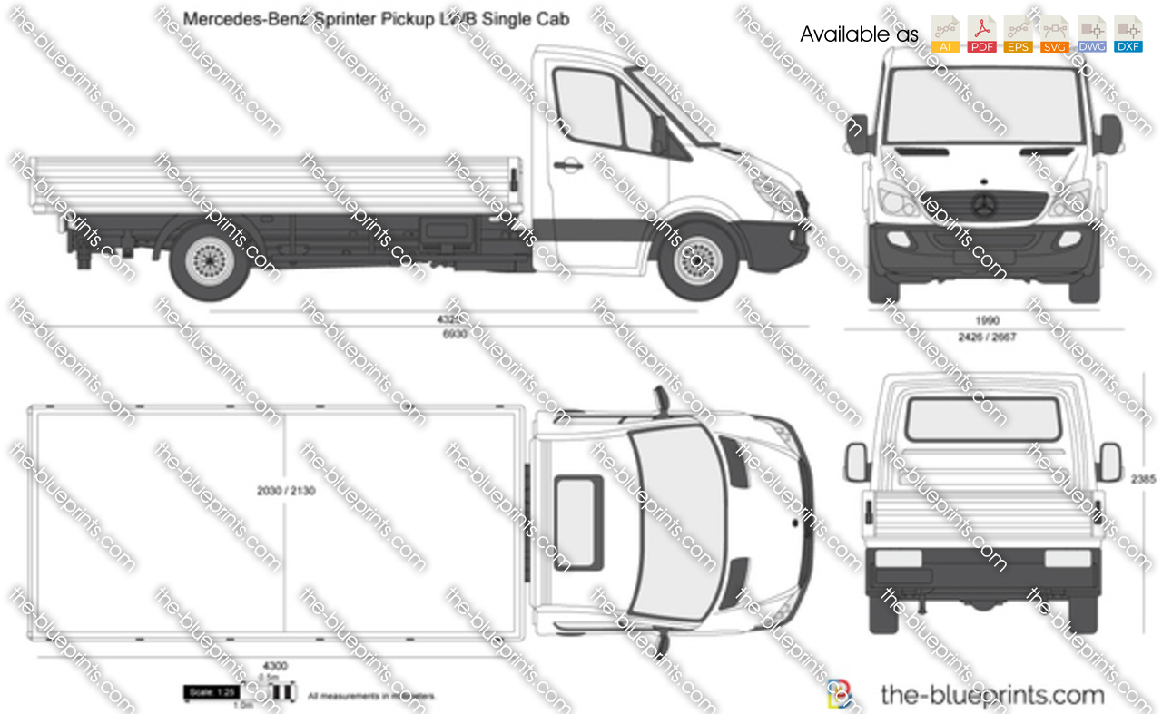 Mercedes-Benz Sprinter Pickup LWB Single Cab 2012