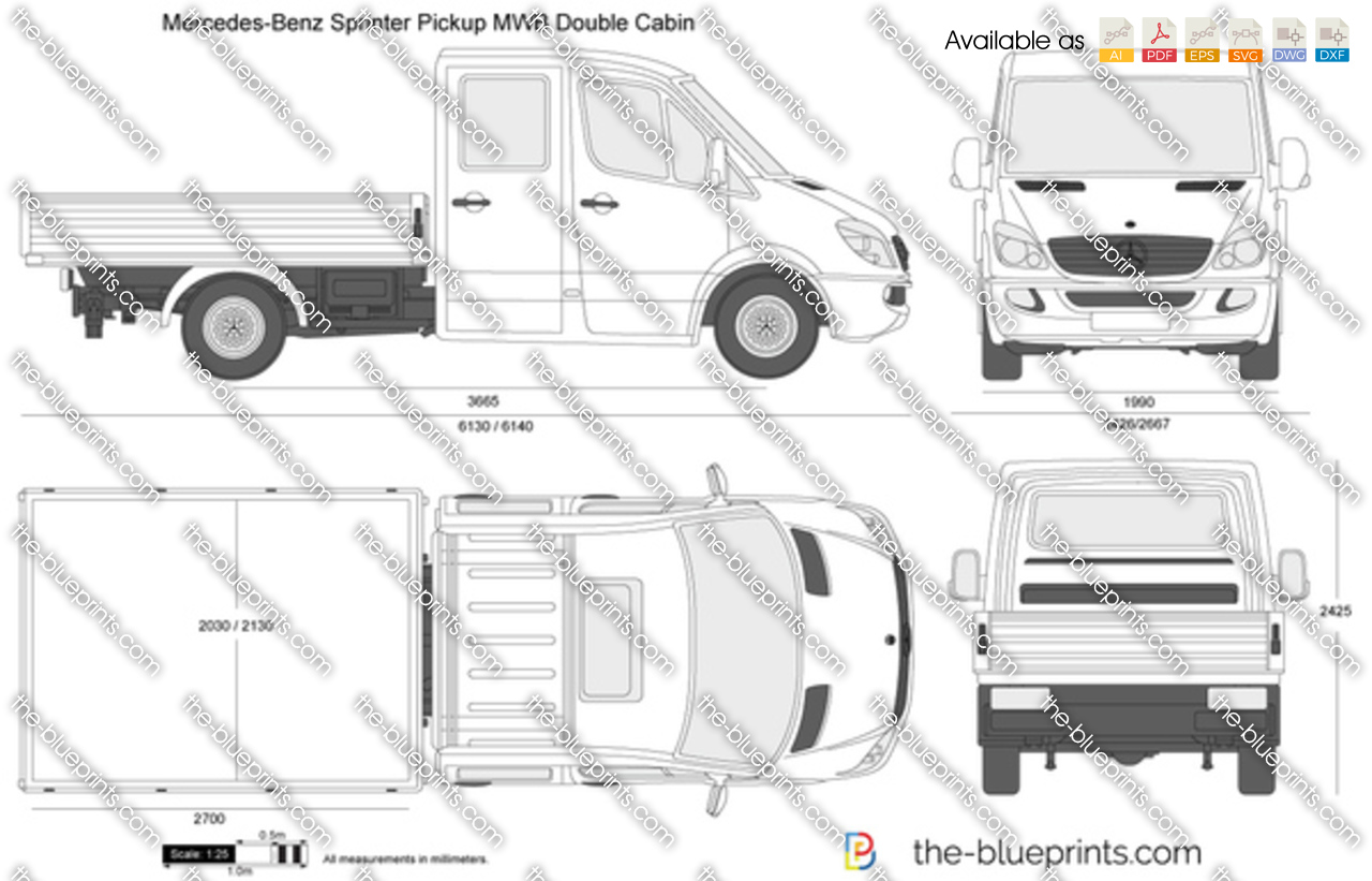 Mercedes-Benz Sprinter Pickup MWB Double Cabin